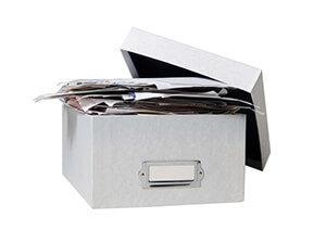 Buchhaltung Kiste (Symbolbild)